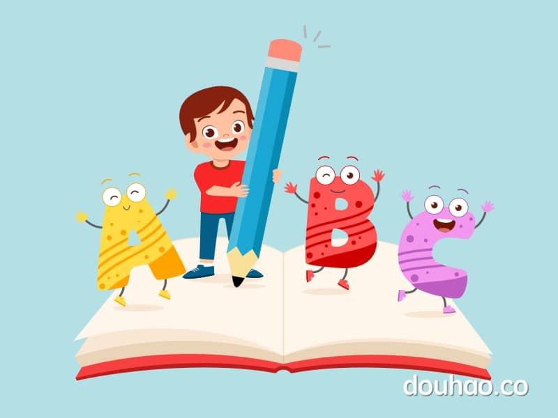 字母闪卡 | 26个英文字母读音及书写演示
