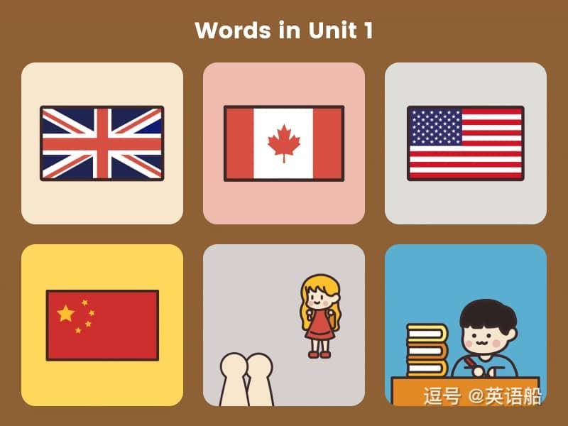单词闪卡 Unit 1 | 小学英语PEP三年级下册
