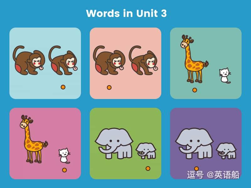 单词闪卡 Unit 3 | 小学英语PEP三年级下册