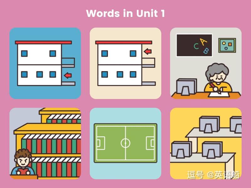 单词闪卡 Unit 1   小学英语PEP四年级下册