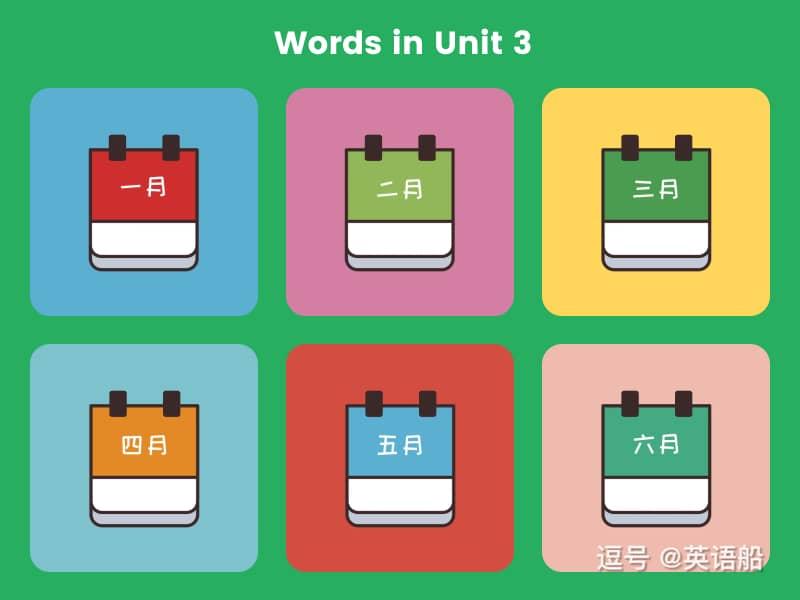 单词闪卡 Unit 3   小学英语PEP五年级下册